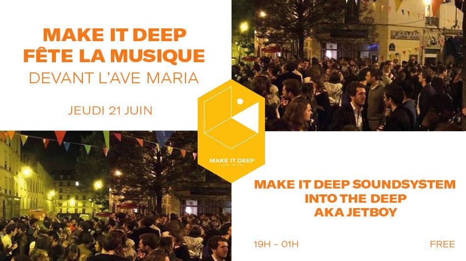 Make It Deep fête la musique devant l'Ave Maria